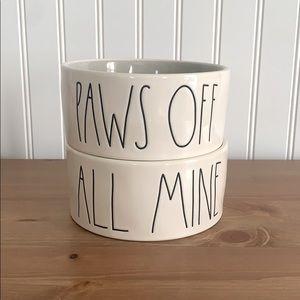 Rae Dunn Dog Bowls Set of 2